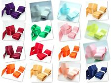 "high quality 5 yards 1-1/2"" 38mm Double aspect satin ribbon U choose colours"