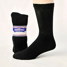 Men's / Womens Diabetic Cushioned Crew Socks 3, 6 or 12 Pair Sizes 9-15