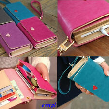 Envelope Card Wallet Leather Purse Case Cover For Iphone4 4s 5 Samsung Galaxy