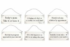 UNIQUE SHABBY CHIC METAL HOME WALL HANGING SIGN PLAQUE - 6 DESIGNS