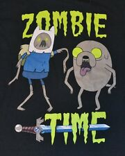 """Adventure Time with Finn & Jake """"ZOMBIE Time"""" Men's  T-Shirt Officially Licensed"""