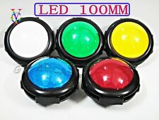 NEW 100MM DIAMETER ILLUMINATED DOME SHAPED JUMBO PUSH BUTTON 5 COLORS - CONVEX