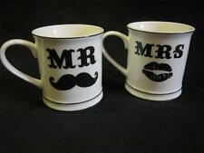 CERAMIC MR MRS MUG WEDDING GIFT GROOM HUSBAND WIFE BRIDE KITCHEN PRESENT TEA