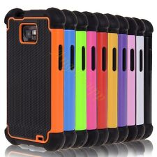 For Samsung Galaxy S2 II I9100 HyBrid Rugged Rubber Hard Case Screen Protector