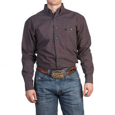WRANGLER George Strait Wine Grey Long Sleeve Plaid  Western Shirt MGS024R NWT