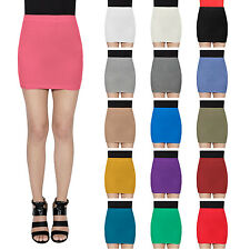 WOMENS TUBE MINI BODYCON SKIRT