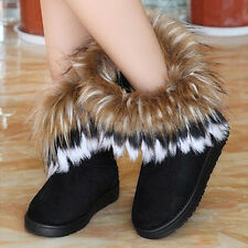 womens boots winter snow boots warm fur ankle boots flat shoes for women new