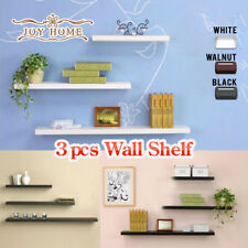 3PCS MAT FLOATING SHELF SET WALL SHOP BOOKSHELF DISPLAY CONCEALED FURNITURE