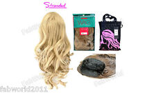 """Stranded 18"""" Synthetic Half Head Curly Wig –3/4 Weave Piece –Monika Wag in a Bag"""