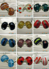 Charms Lampwork Murano Glass Spacer Beads For European Jewelry Bracelet DIY