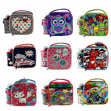 Smash Kids School Lunch Bag with Bottle Owl Monster Pink Blue 10+ Designs