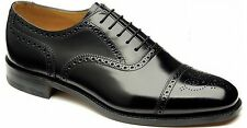 MEN'S LOAKE SHOES  BLACK 201B LEATHER