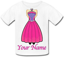 PRINCESS BODY PERSONALISED CHILDS T-SHIRT -KIDS FANCY DRESS GIFT & NAMED TOO