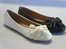 Girls Ballet Flats w/bow (fit3) YOUTH Flower Girl Pageant