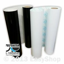1220mm Ritrama Self Adhesive Sign Making Vinyl Black / White Sticky Back Plastic