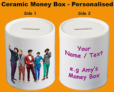 One Direction - Ceramic Money Box / Piggy Bank / Savings Jar - Personalised