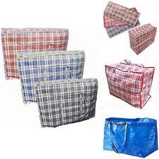 Large Laundry Storage Bags Reusable Strong Shopper Bag Zip Closing Luggage Bags