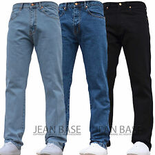 BNWT NEW MENS STRAIGHT LEG WORK BASIC PLAIN DENIM JEANS PANTS ALL WAIST & SIZES