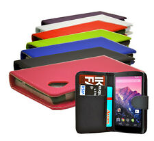 Protective Leather Flip Wallet Case Cover For LG Google Nexus 5 + Screen Guard