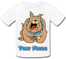 CARTOON BULLDOG PERSONALISED CHILD'S SUBLIMATION T-SHIRT -GREAT NAMED KIDS GIFT