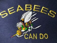 SEABEES Can Do EMBROIDERED Polo Shirt MILITARY ARMY NAVY VETERAN Embroidery
