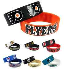 NHL Rubber Silicone Wristband Wrist Band Bracelets - Choose Your Team
