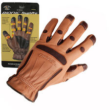 3 Pairs Bionic Tough Pro All Purpose Garden Gloves. All Sizes.Full Leather