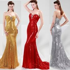 Sexy Sweetheart Long Sequins Evening Dress Formal Party Prom Gown Dresses