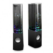 USB LED Light Dancing Water Fountian Music Speakers - Black,White,Blue,Pink