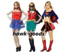 Supergirl Women Ladies Fancy Dress Costume Superman & Robin Sexy Outfit