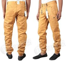 MENS JEANS ETO EM374 TAN COLOUR CUFFED TAPERED STYLE CHEAP ALL SIZES 28 TO 42