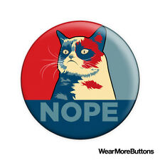 "Grumpy Cat ""Nope"" Pin Button Badge Fridge Magnet (Tardar Sauce)"