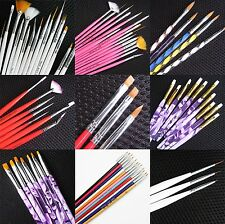 Nail Art Pen Brush UV Gel Acrylic Painting Drawing Liner Polish Brush Tips Set B