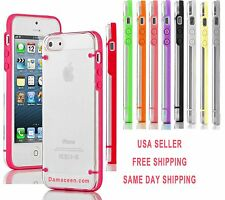 For iPhone 5, 5S Ultra Thin Transparent Crystal Clear Hard TPU bumper Case Cover