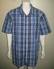 NWT ECKO UNLTD INJECT PLAID WOVEN MEN DRESS BUTTON DOWN SHIRT ECLIPSE BLUE