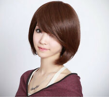 BOB style Straight Bang short Straight Women Wig wigs with wig cap 3 Colors