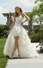 Bubble White/Ivory Wedding Cocktail Eevning Homecoming Dress Junior Prom Gown