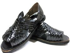 Genuine Leather Black Mexican Huaraches Flip Flop Slip Tire Sandals Man Pachuco