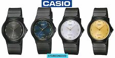 Casio MQ76 Mens Black Dial Resin Casual Classic Analog Watch Resin Band