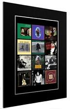 MOUNTED PRINT OF NICK DRAKE DISCOGRAPHY - DIFFERENT SIZES ARTWORK POSTER GIFT