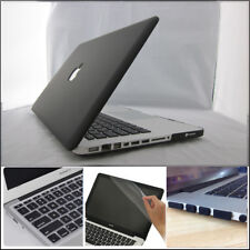 "Black Rubberized Matte Hard Case Cover Skin Set for Apple Macbook Pro 13""/13.3"