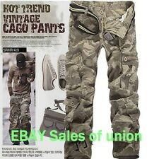 Hot New Combat Men's Cotton Military Camouflage Cargo Pants ARMY Casual trousers