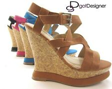 NEW Women's Fashion Shoes Platforms Wedges Sandals Summer High Heels Multi Color