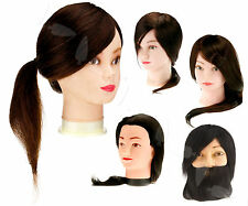 "14""/18""/22"" Human Hair Synthetic Hair Dressing Practice Mannequin Training Head"