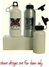 CUSTOM PRINTED  WATER BOTTLE PERSONALISED FREE WITH YOUR OWN DESIGN