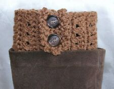 Mocha Handmade Crochet Boot Cuffs Boot Toppers Leg Warmers S,M&L