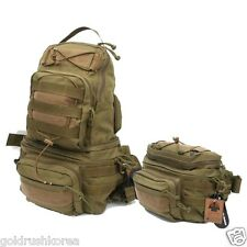 DYNAMOTAC 1000D CORDURA TACTICAL FOLDING TRANSFORM TWO-WAY WAIST BAG BACK PACK