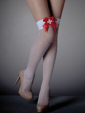 Ann Summers Womens Naughty Nurse Over The Knee Fishnet Stockings Sexy Tights New