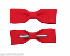 Skinny / Thin Red Clip On Bow Tie Bow tie Men / Boys