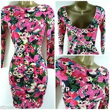 NEW THERAPY @ HOUSE OF FRASER BODYCON DRESS STRETCH FLORAL SIZE 8 10 12 14